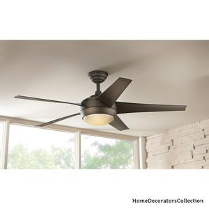 Home Decorators Collection Windward IV 52 in. LED Indoor Oil-Rubbed Bronze Ceiling Fan with Light Kit and Remote Control for Sale in Dallas, TX