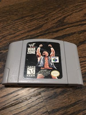 N64 WWF War Zone Game for Sale in Los Angeles, CA