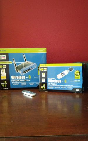 LINKSYS Wireless Router & USB adapter for Sale in Sarasota, FL