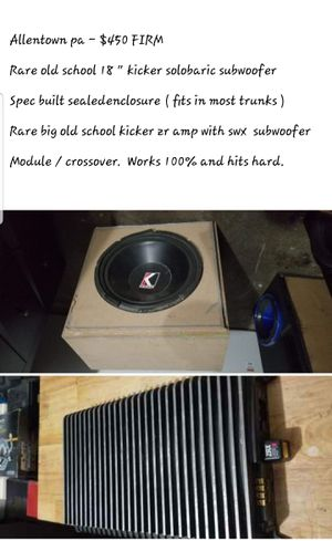 """18"""" kicker sub and amp for Sale in Allentown, PA"""