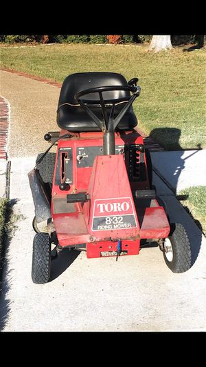 Toro 832 w/12hp Lawn tractor riding mower for Sale in Keller, TX