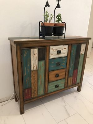 Unique accent Dresser / TV stand / console / entry table Measures 40 in wide 12 in deep 34 in tall for Sale in Glendale, AZ
