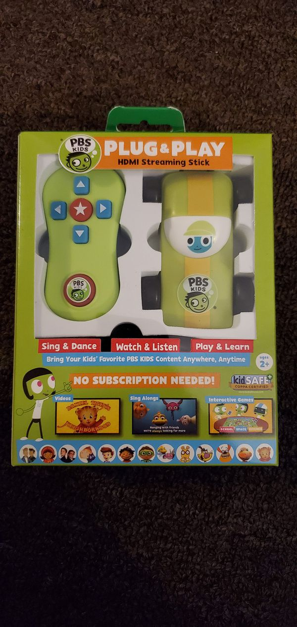 PBS kids plug & play HDMI stream stick