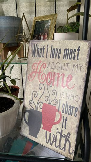 Home wall decor with sayings for Sale in San Diego, CA