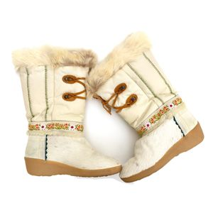 Rare TECNICA 1980s Vintage Cream Skandia Apres Fur Boots for Sale in Etiwanda, CA