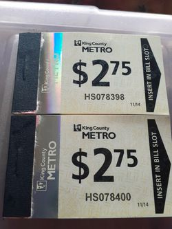 Bus Tickets for Sale in Auburn,  WA