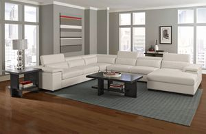 4 Piece White Leather Sectional for Sale in Buffalo, NY