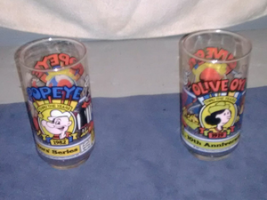 Popeye and Olive Oyl glasses for Sale in Oak Park, IL