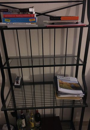 Glass and metal shelves for sale. for Sale in Washington, DC