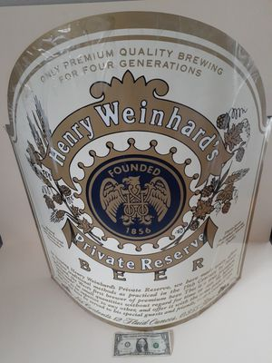 $100 obo! Store display Henry weinhards large metal label for Sale in Tacoma, WA