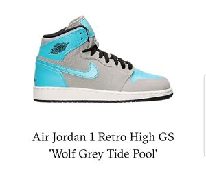 Air Jordan 1 Retro High GS 'Wolf Grey Tide Pool' for Sale in Raleigh, NC