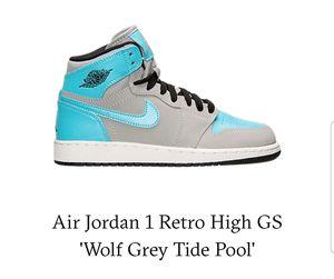 Air Jordan 1 Retro High GS 'Wolf Grey Tide Pool' for Sale in Raleigh, NC