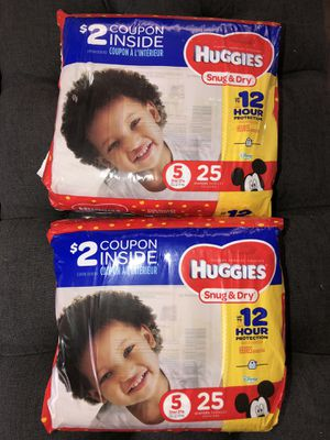 Huggies 50 diapers total size 5 for Sale in Battle Ground, WA