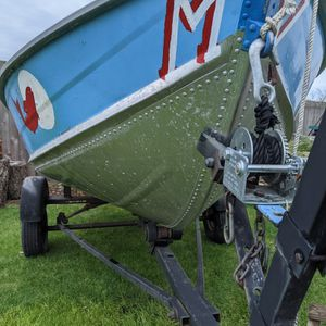 Gamefisher 12 Foot Aluminum boat With Trailer for Sale in Puyallup, WA