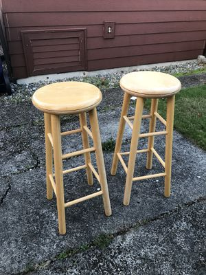 Wooden Stools w/ swivel top for Sale in Fircrest, WA