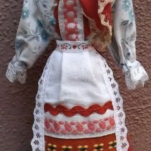 """Vintage Cloth Doll Ethnic Folk Costume Dress made in Russia 9,5"""" for Sale in San Diego, CA"""