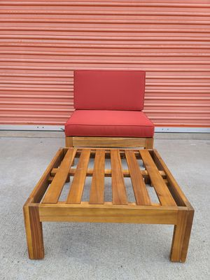 Teak outdoor furniture bench chair for Sale in Huntington Beach, CA