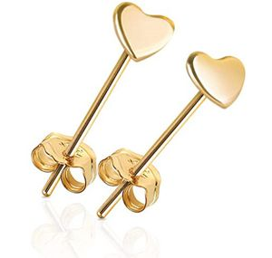 14k gold Tiny Heart Earrings for Sale in Columbus Air Force Base, MS