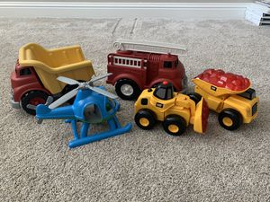 Green Toys and Cat trucks in EXCELLENT condition! for Sale in Clovis, CA