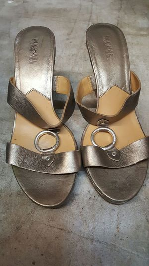Micheal Kors gold wedges for Sale in San Francisco, CA