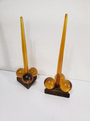 Mid century vintage Lucite grape candle holders for Sale in Orlando, FL
