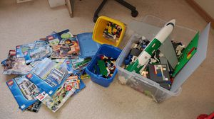 Lego many pieces and Lego instruction books for Sale in Federal Way, WA