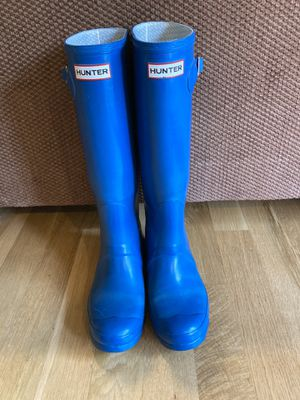 Hunter Boots Teal Blue Tall Rain Boots Rubber - Women's Sz 9 for Sale in Lynnwood, WA