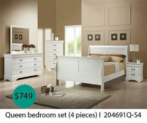 Queen bedroom set 4 pieces for Sale in Anaheim, CA