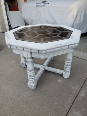 Distressed octogan side table for Sale in Upland, CA