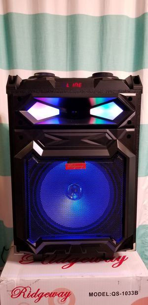 10 Inch New Bluetooth Speaker SD Card,Slot USB Port,FM Radio,Microphone Included For Karaoke ( Bosina ) Bz3 for Sale in March Air Reserve Base, CA