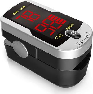 Deluxe SM-110 Two Way Display Finger Pulse Oximeter with Carry Case and Neck/Wrist Cord for Sale in Euless, TX