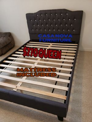 BRAND NEW BED FRAME QUEEN COMES IN BOX WITH MATTRESS INCLUDED $270🔊🔊🔊🔊🔊AVAILABLE FOR SAME DAY DELIVERY OR PICK UP for Sale in Compton, CA