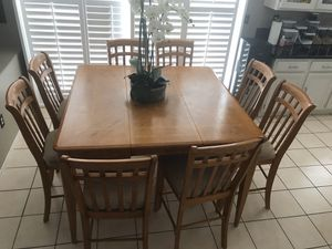 Oak wood dining table set for Sale in Los Angeles, CA