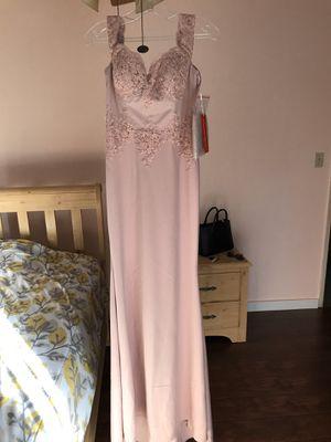 Bridesmaids Dress Mauve / Pink Size M Off the shoulder for Sale in El Monte, CA