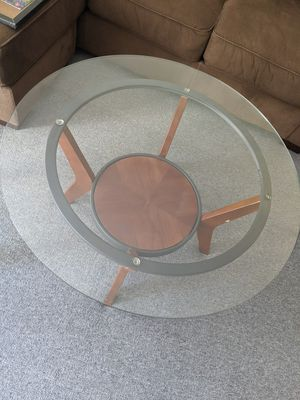 Glass table set (1 coffee table and 2 end tables) for Sale in San Francisco, CA