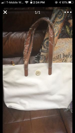 Joy Mangano white tote bag for Sale in Bowie, MD