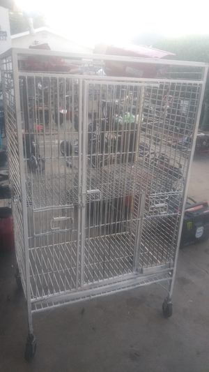 Bird cage Parrot cage. All steal welds with wheels for Sale in Bell Gardens, CA