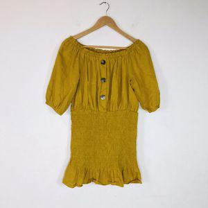 Zara Mustard Yellow Off Shoulder Mini Dress Size Large for Sale in El Cajon, CA