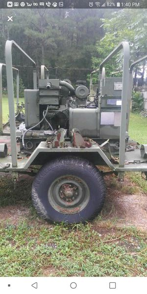 5k diesel generator on trailer for Sale in Felton, DE