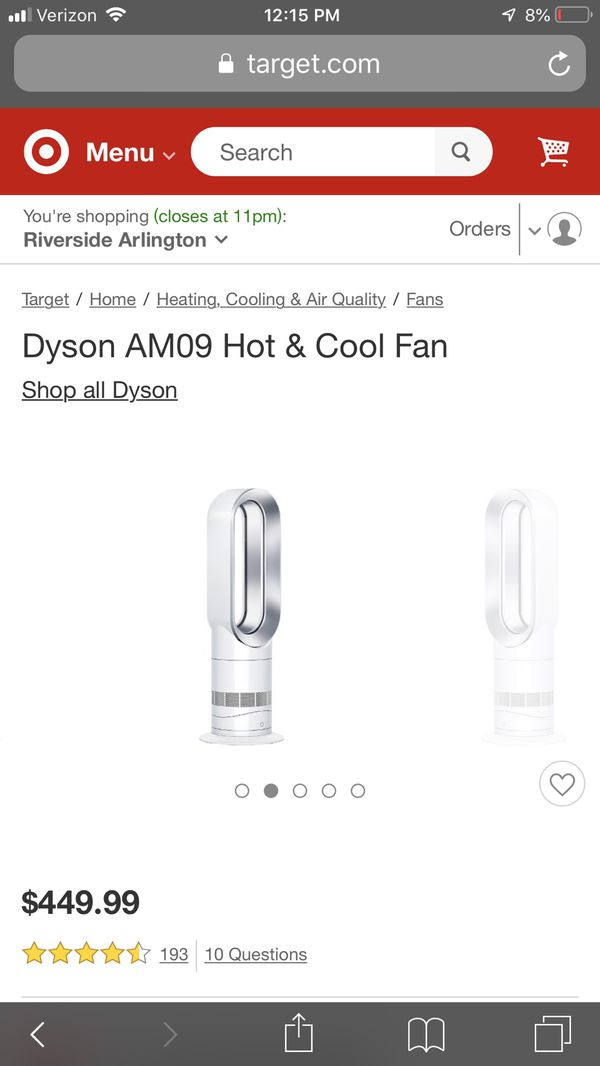 Dyson hot and cold jet focus