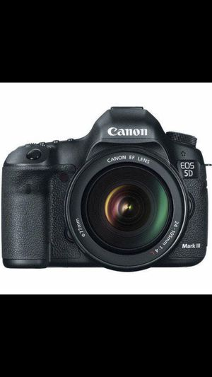 CANNON EOS-5D MARK III DLSR CAMERA WITH 24-105mm IS LENS- BLACK. - for Sale in Aspen Hill, MD