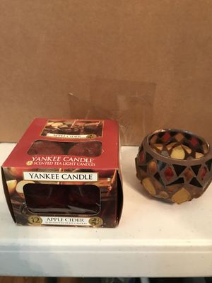 Yankee Candle 4 Pack & Holder - Brand New for Sale in San Antonio, TX