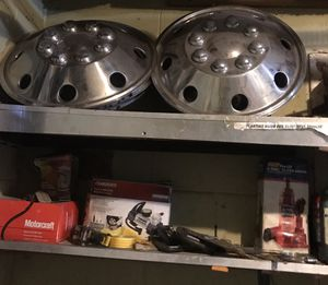 JAE5900 16 Inch Stainless Steel Truck, Van, RV Hubcapsl/Wheelcovers Set for Sale in Orlando, FL