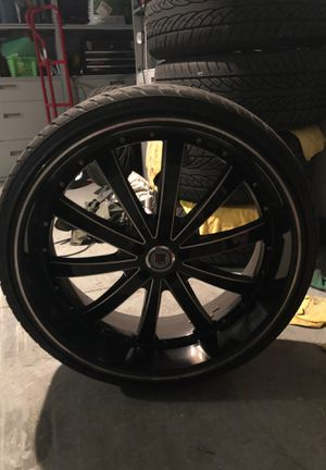 24 inch Red Sport Rims for Sale in Pasco, WA
