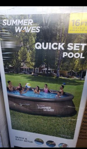 Brand new!!! Summer Waves 16 foot X 42 in Quick Set Pool - Pool, Ladder, Pump, and Filter for Sale in Phoenix, AZ