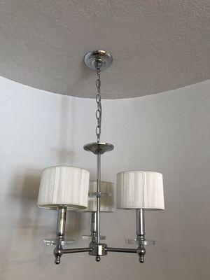 Classy silver 3-light chandelier. for Sale in Draper, UT