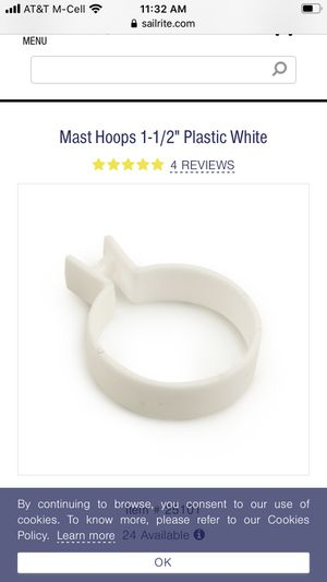 Sailboat mast hoops for Sale in Norco, CA
