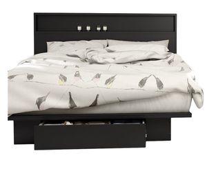 Queen Size Storage Platform Bed and Headboard for Sale in Arlington, VA