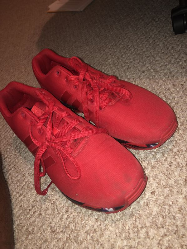 Red Adidas Shoes (Size 12.5)