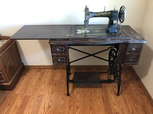 Antique sewing machine and table for Sale in West Jordan, UT